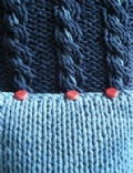 [Denim Cabled Cushion - click to enlarge]